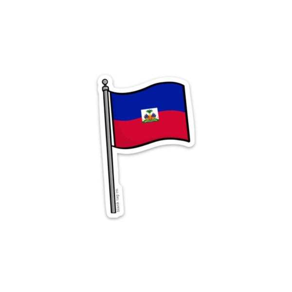 The Haiti Flag Sticker