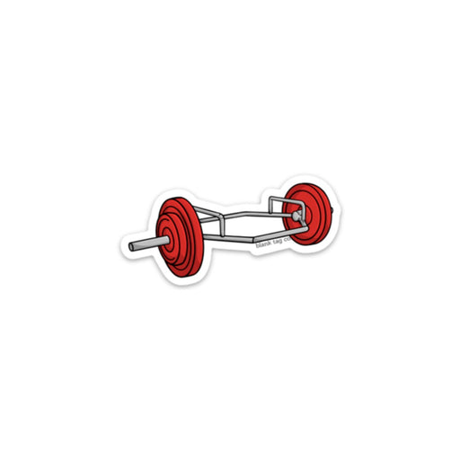 The Hex Deadlift Bar Sticker