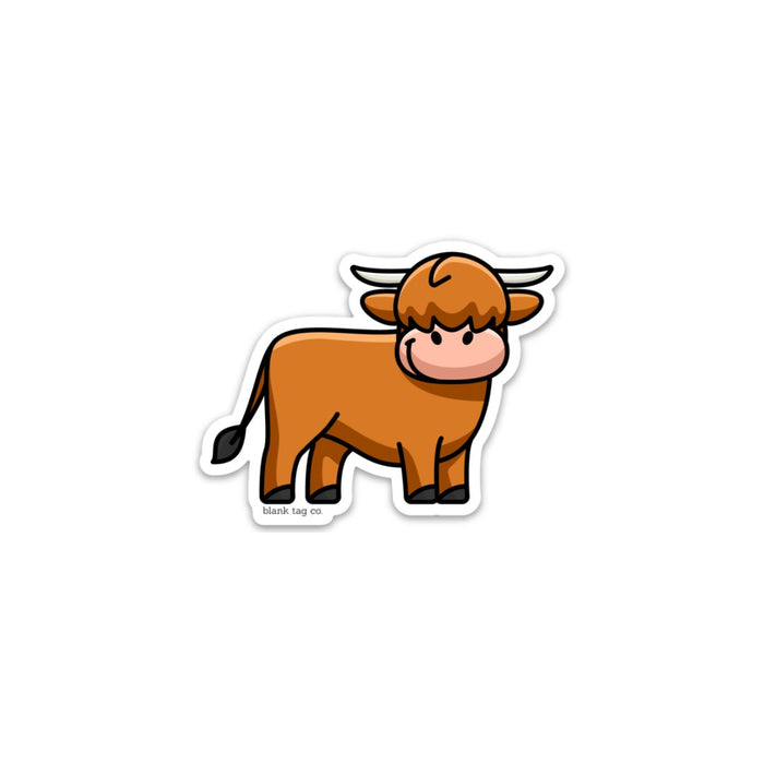 The Highland Cow Sticker