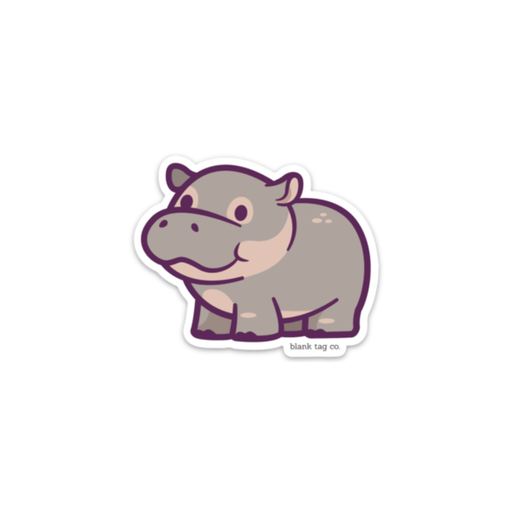 The Hippo Sticker