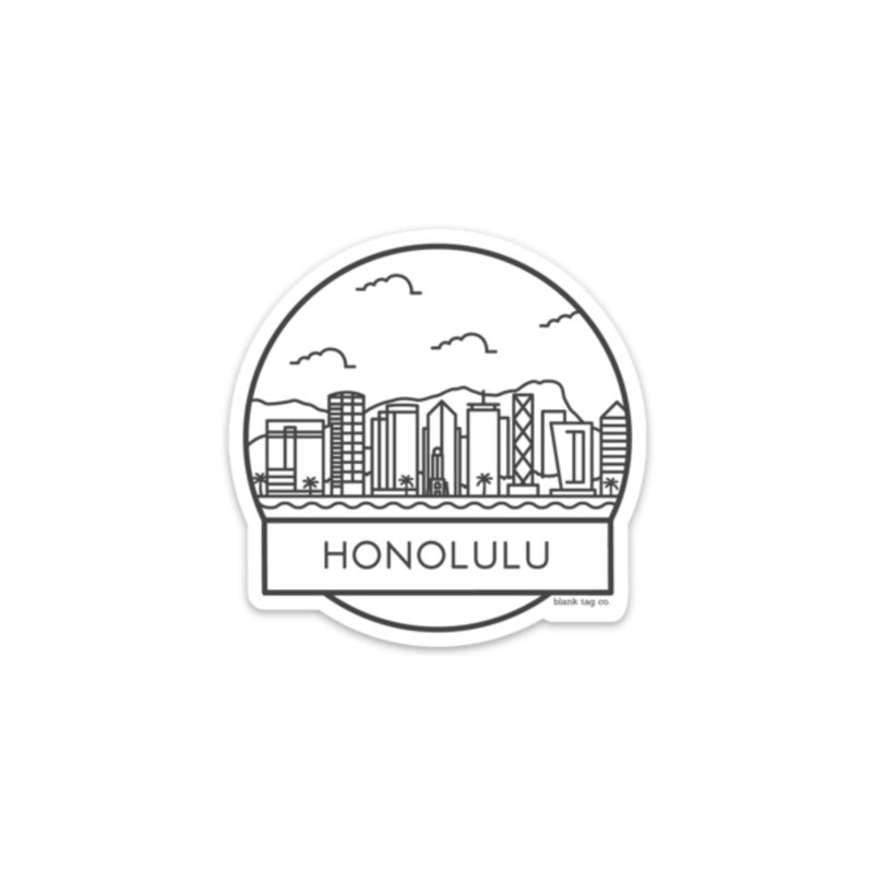The Honolulu Cityscape Sticker