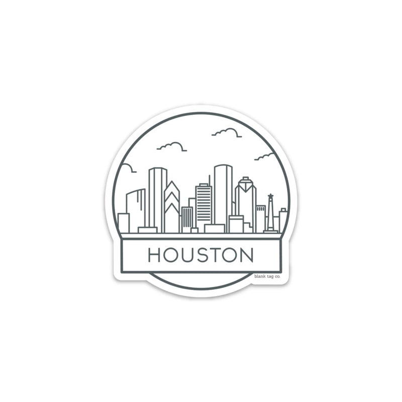 The Houston Cityscape Sticker