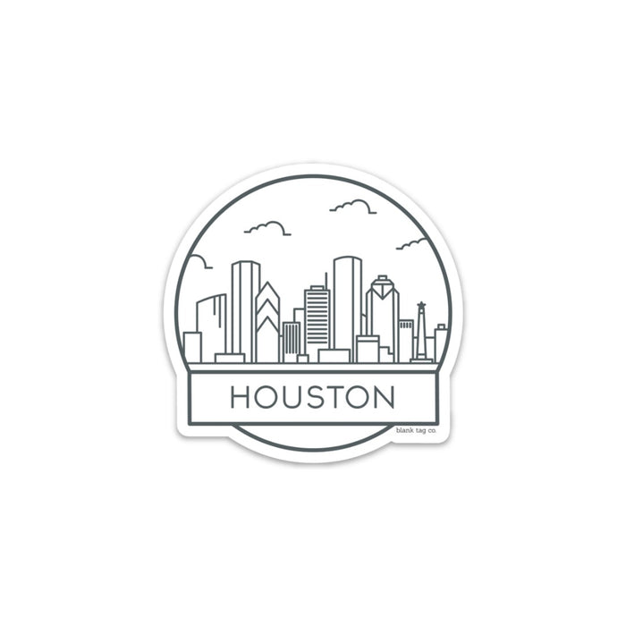 The Houston City Badge Sticker