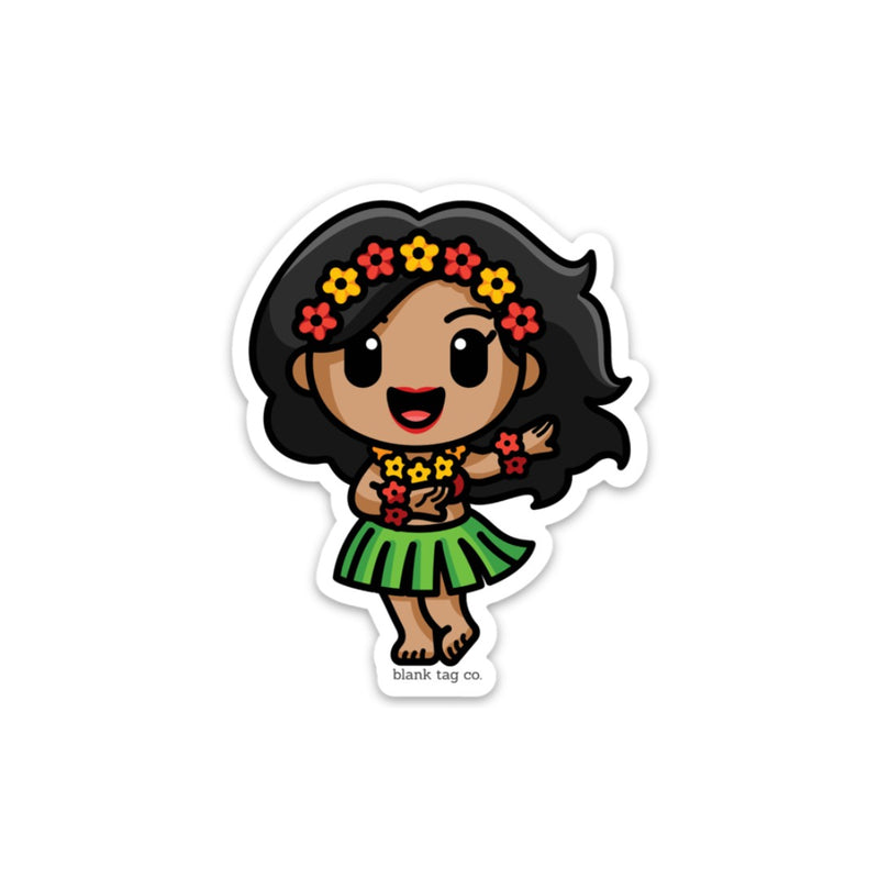 The Hula Girl Sticker