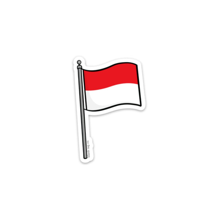 The Indonesia Flag Sticker