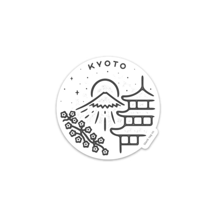 The Kyoto City Badge Sticker