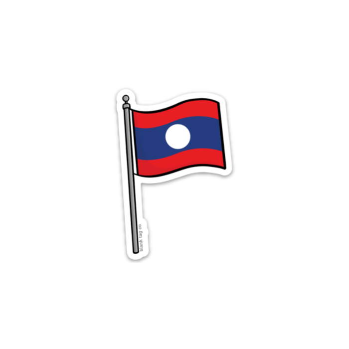 The Laos Flag Sticker