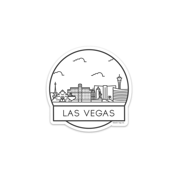 The Las Vegas Cityscape Sticker