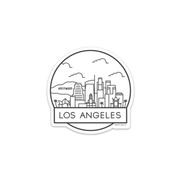 The Los Angeles Cityscape Sticker