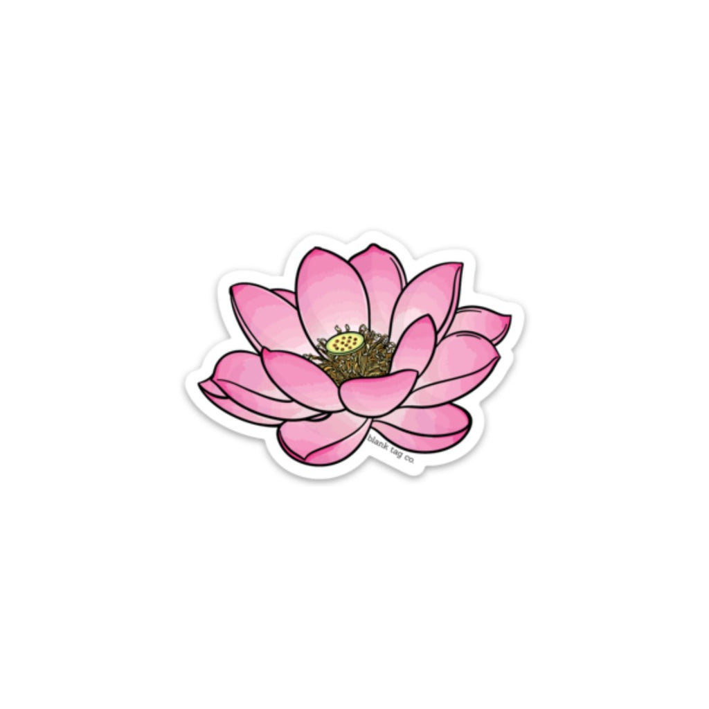 The Lotus Flower Sticker Blank Tag Co