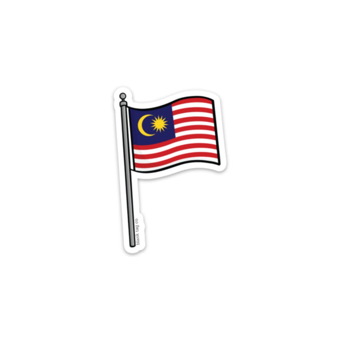 The Malaysia Flag Sticker