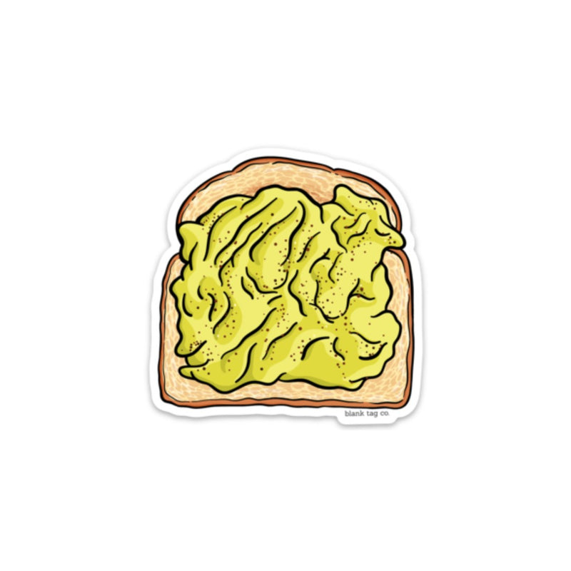 The Mashed Avocado Toast Sticker