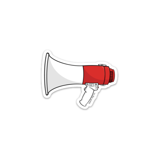 The Megaphone Sticker