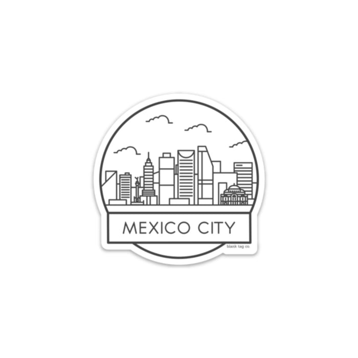 The Mexico City Cityscape Sticker