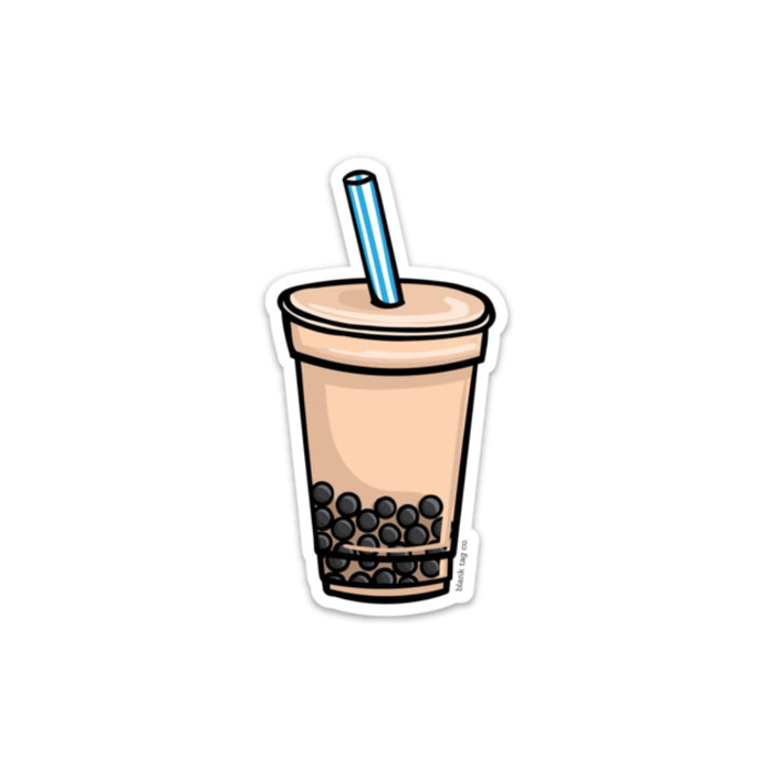 The Milk Tea With Boba Sticker