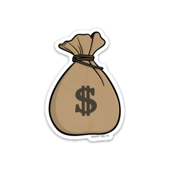 The Money Bag Sticker