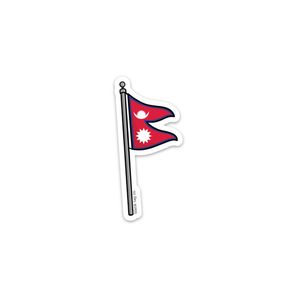 The Nepal Flag Sticker