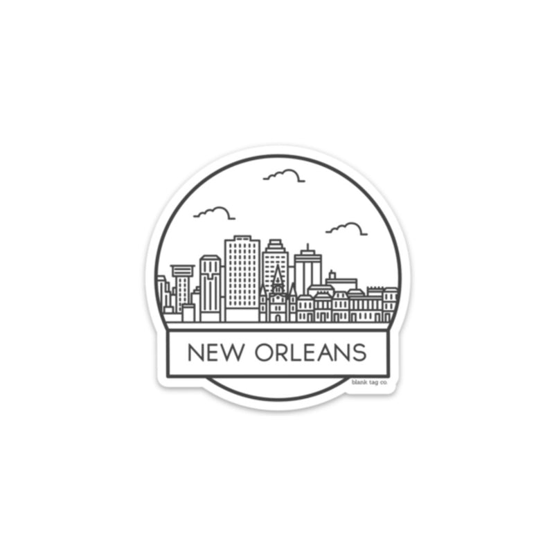 The New Orleans Cityscape Sticker