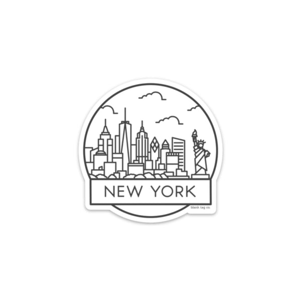 The New York Cityscape Sticker