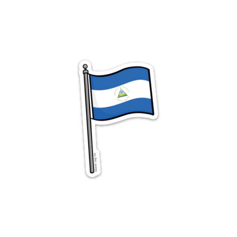The Nicaragua Flag Sticker