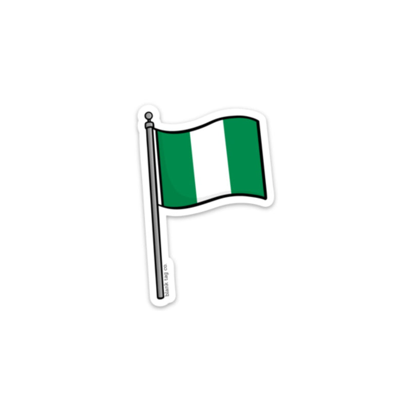 The Nigeria Flag Sticker