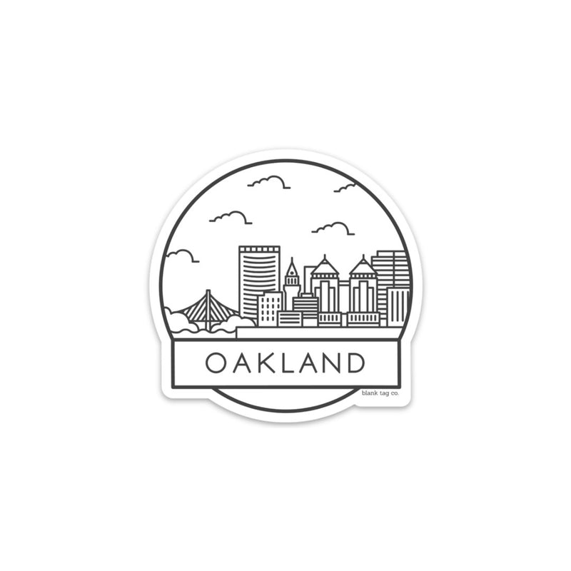 The Oakland Cityscape Sticker