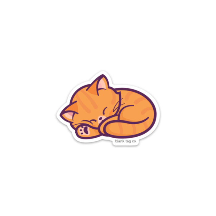 The Orange Cat Sticker
