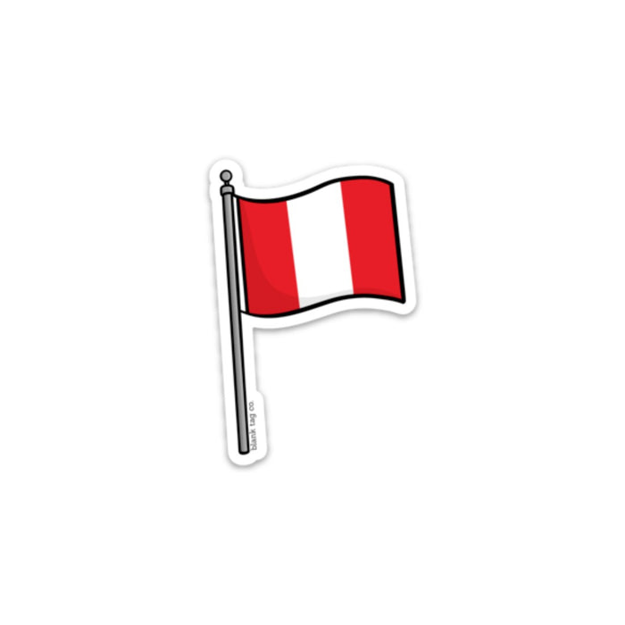 The Peru Flag Sticker
