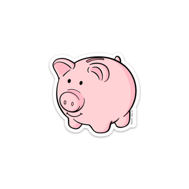 The Piggy Bank Sticker