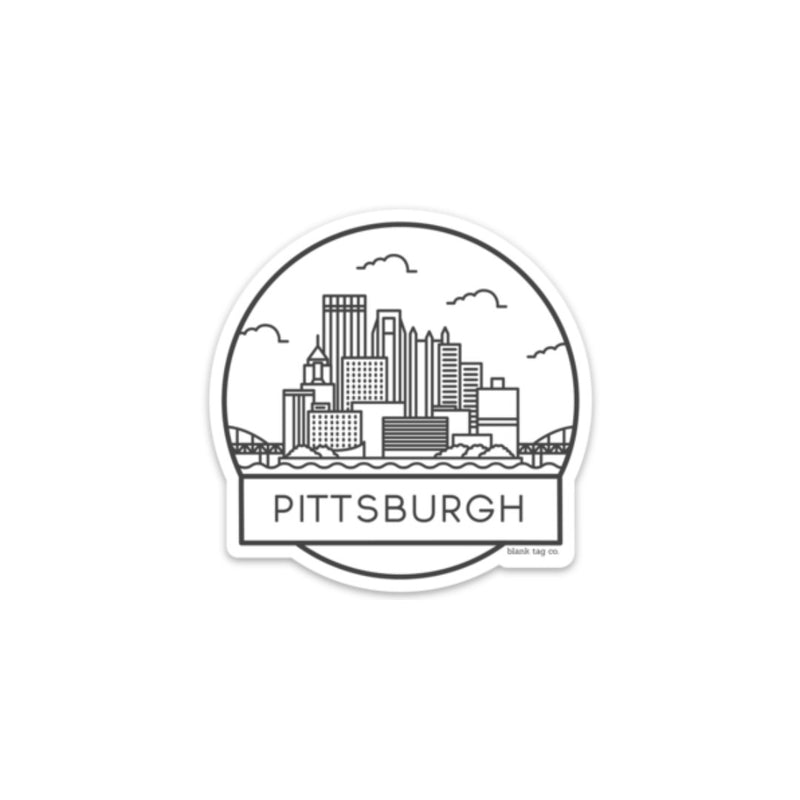 The Pittsburgh Cityscape Sticker