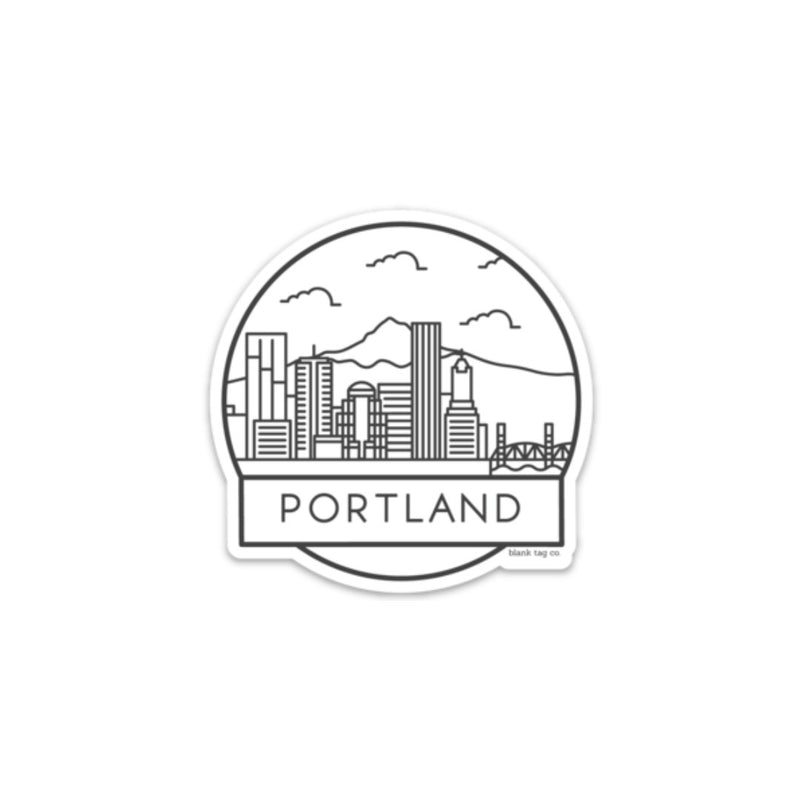 The Portland Cityscape Sticker