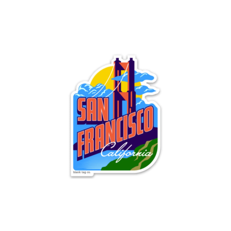 The San Francisco City Badge Sticker