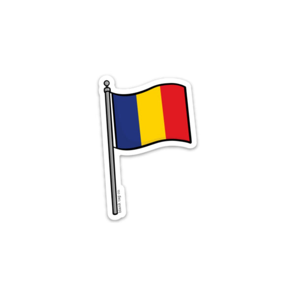 The Romania Flag Sticker