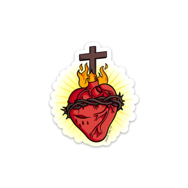 The Sacred Heart Sticker