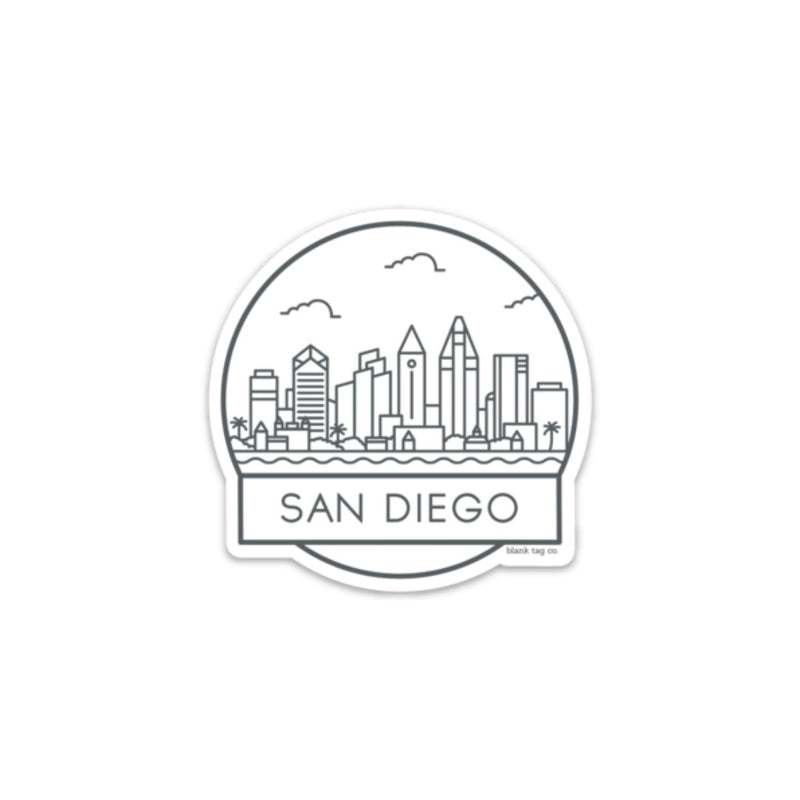 The San Diego Cityscape Sticker