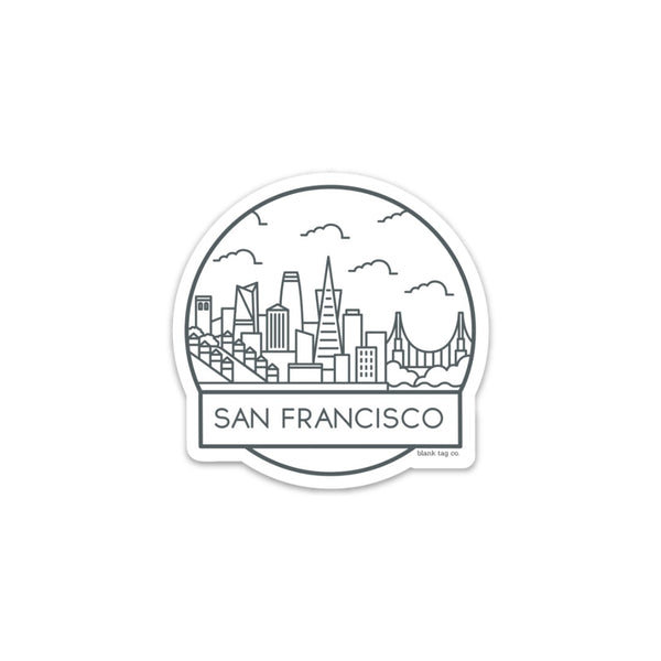 The San Francisco Cityscape Sticker