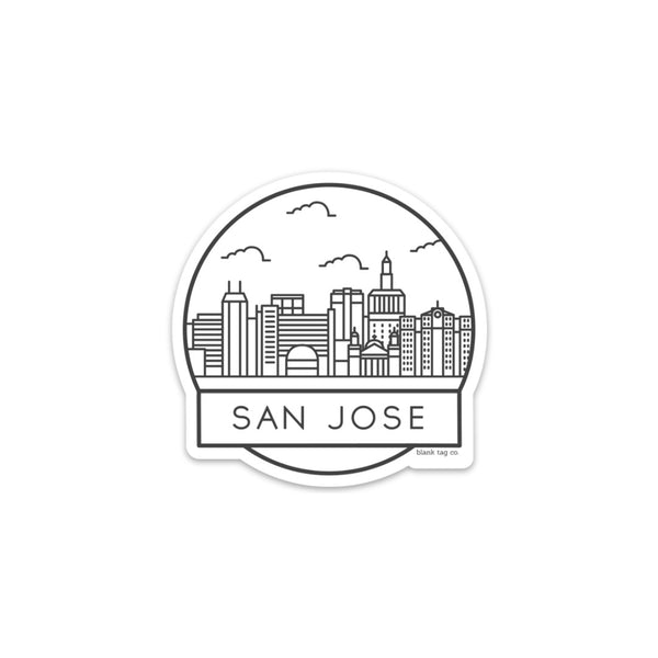 The San Jose Cityscape Sticker