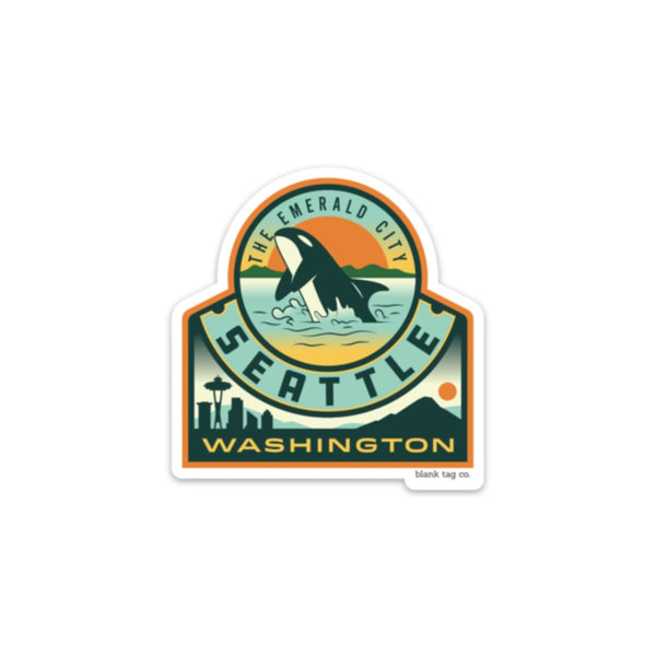 The Seattle City Badge Sticker
