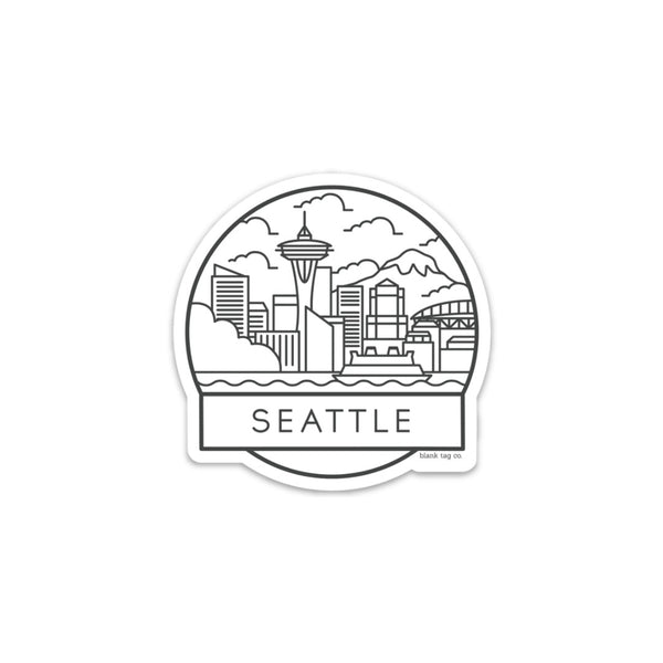 The Seattle Cityscape Sticker