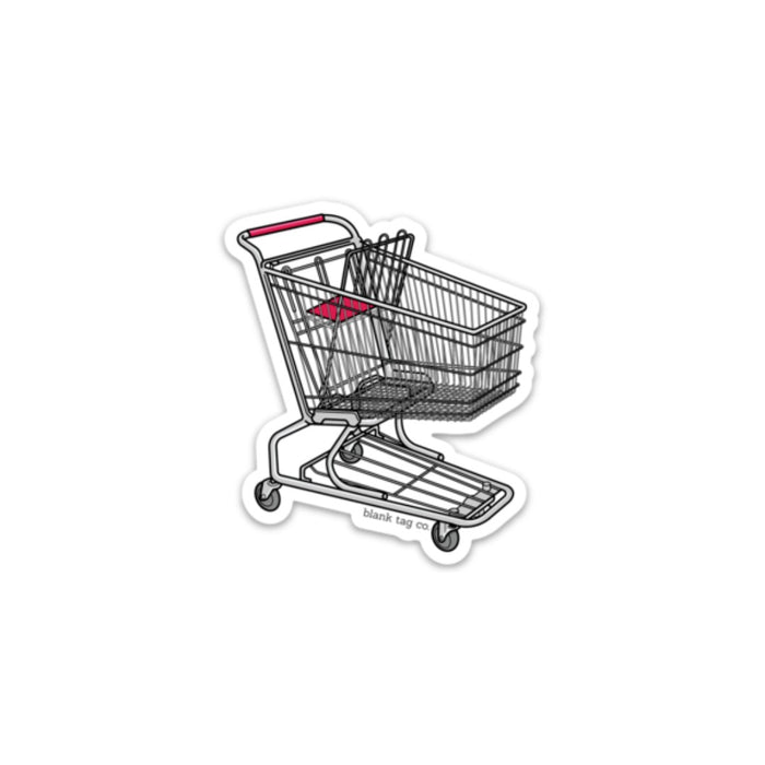 The Shopping Cart Sticker