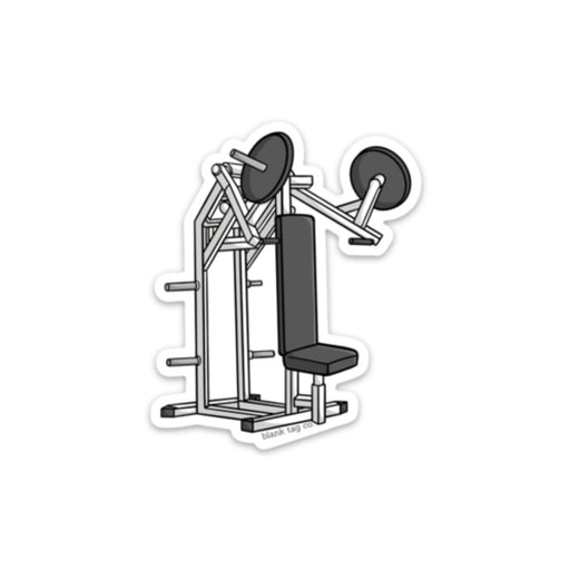 The Shoulder Press Machine Sticker