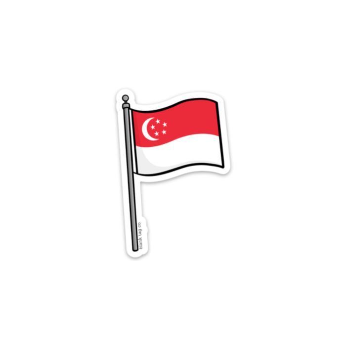 The Singapore Flag Sticker