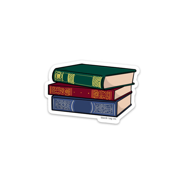 The Stack of Books Sticker