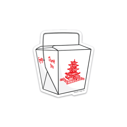 The Takeout Container Sticker