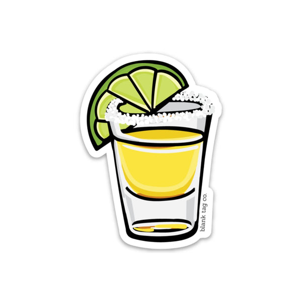 The Tequila Shot With Salt Sticker