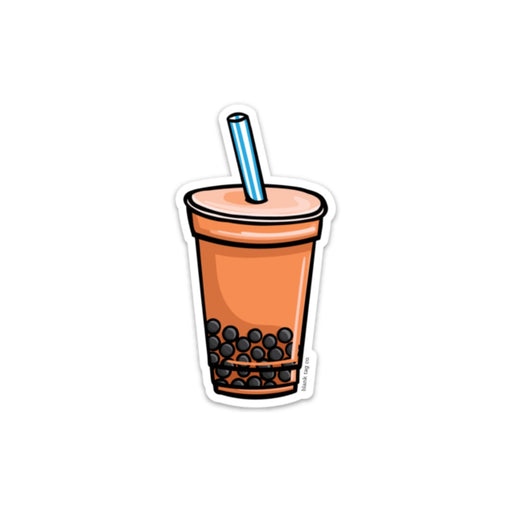 The Thai Tea With Boba Sticker
