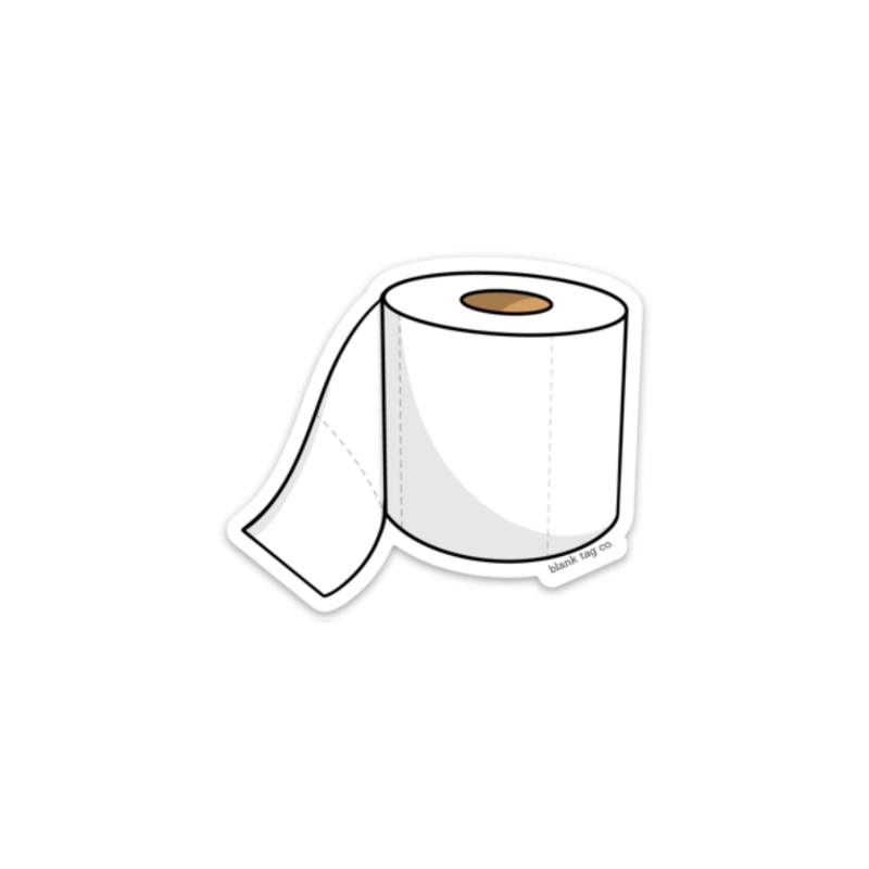 The Toilet Paper Roll Sticker