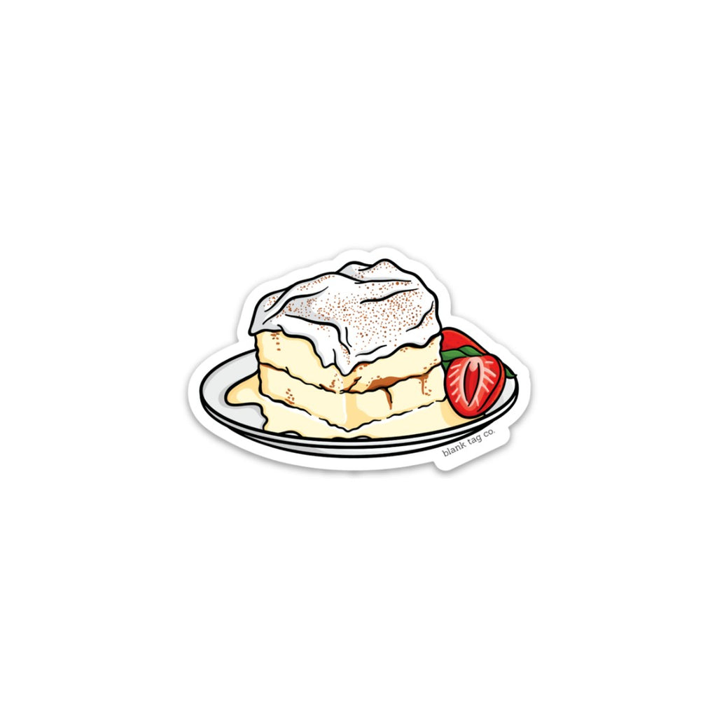 The Tres Leches Cake Sticker  U2013 Blank Tag Co