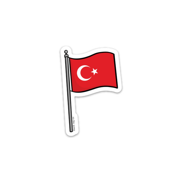 The Turkey Flag Sticker