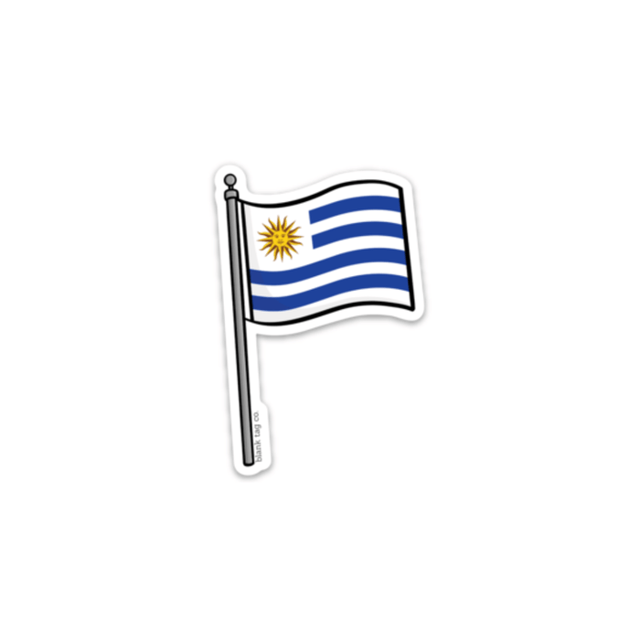 The Uruguay Flag Sticker